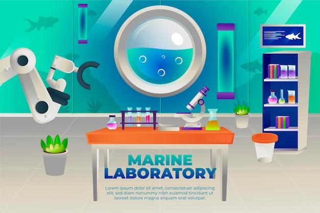 漫画風の実験室
