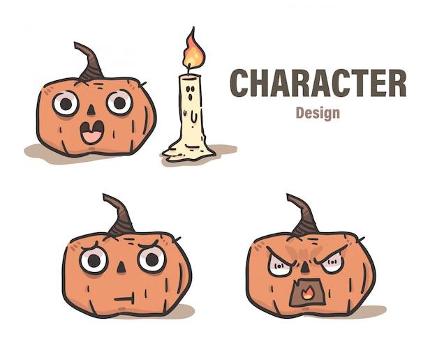 Cartoon style pumpkin doodle . pumpkin