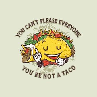 Cartoon style taco's illustration