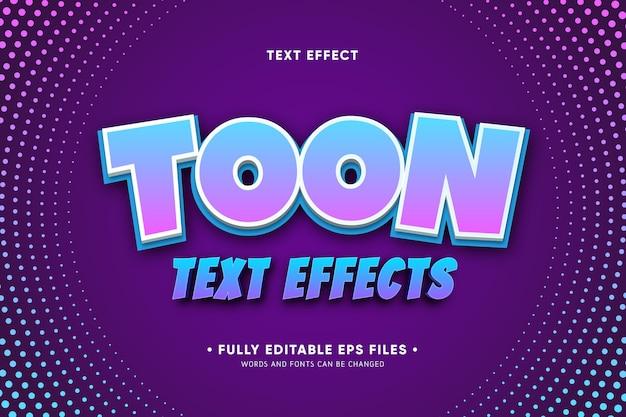 Effetti di testo in stile cartone animato Vettore gratuito