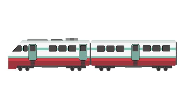 Cartoon subway or high speed train