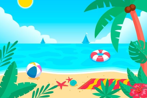 Videocalls 만화 여름 배경