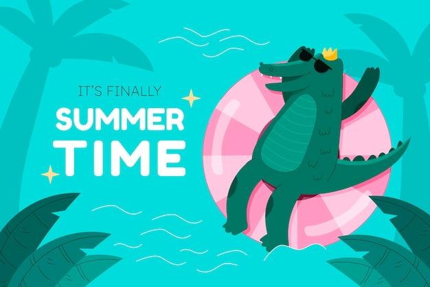 만화 여름 배경
