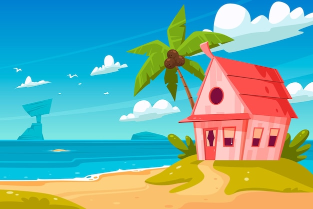 Cartoon summer background