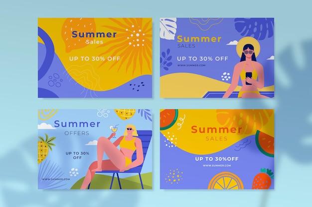漫画の夏のカードコレクション
