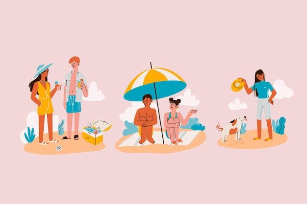 漫画の夏のシーン