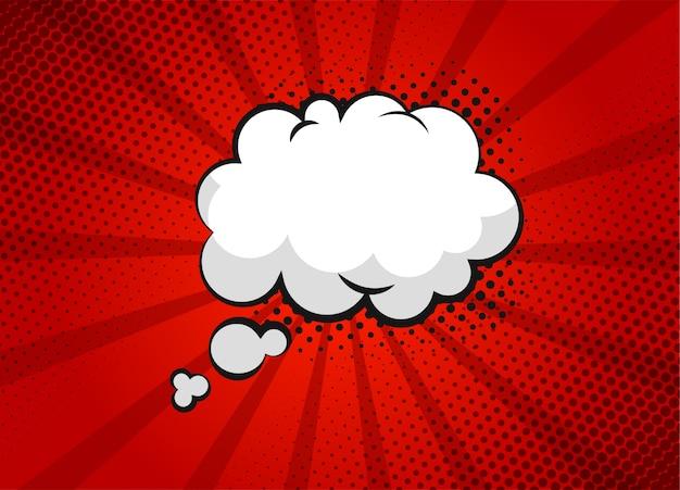 Cartoon superhero bubble dialog scenes on red