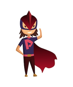 漫画のスーパーヒーローの子供のキャラクター