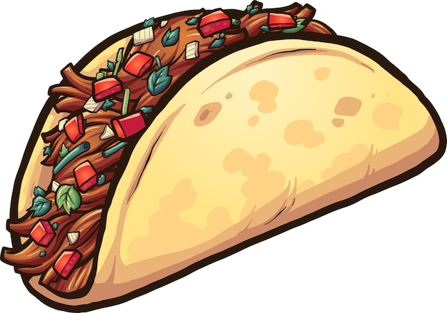 Cartoon taco
