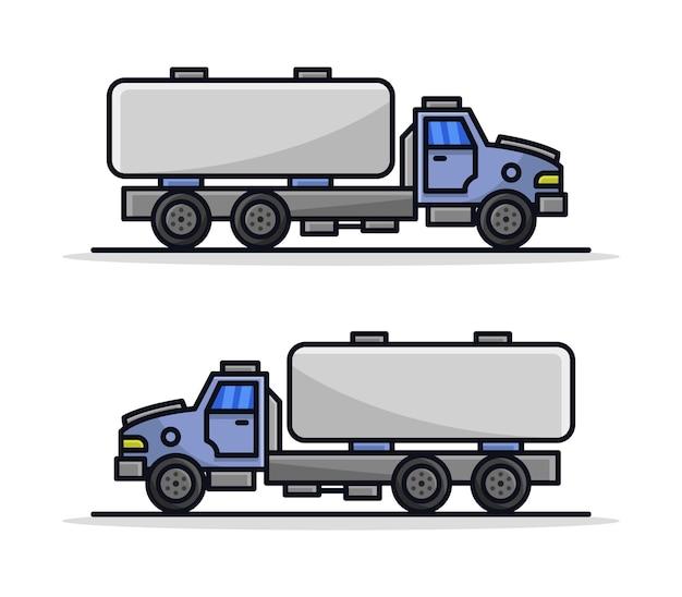 Мультяшный грузовик-цистерна Premium векторы