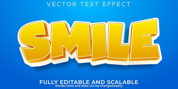 Cartoon text effect, editable kids and school text style