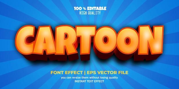 Мультяшный текстовый эффект редактируемый стиль текста