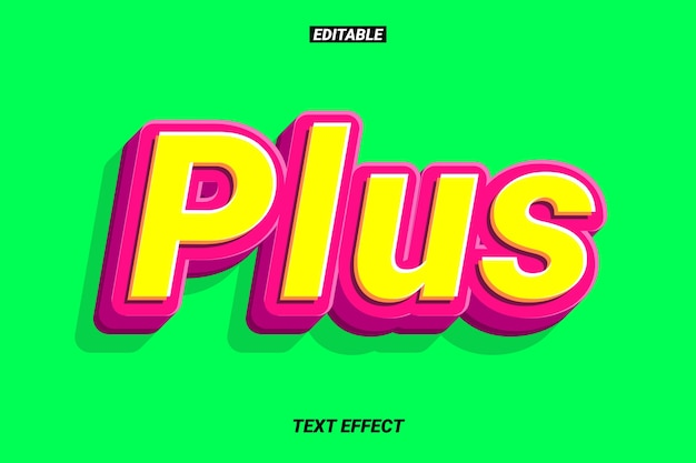 Cartoon text effect with round edge