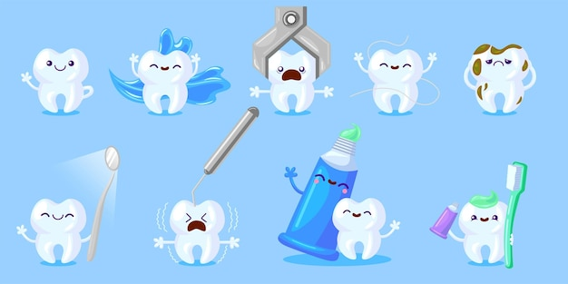 Cartoon tooth care set