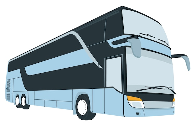 Cartoon of tourist coach bus