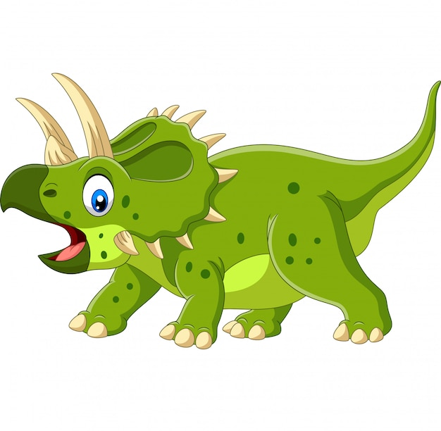 Cartoon triceratops isolated