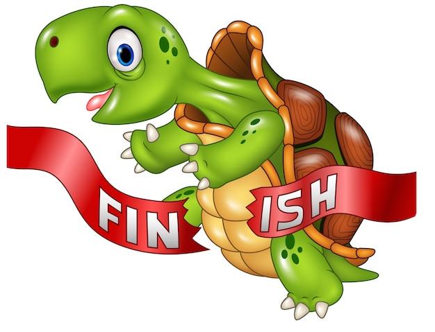 フィギュアラインを越えて亀のカメが勝つ