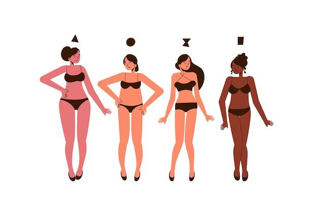 만화 유형의 여성 체형