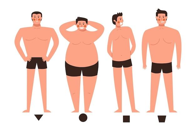남성 체형의 만화 유형
