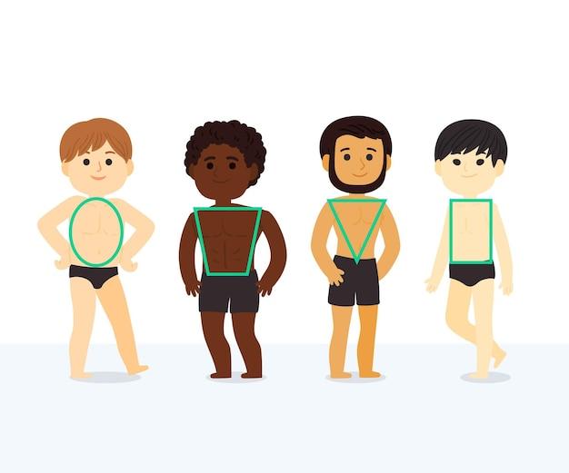 Мультяшные типы мужских фигур