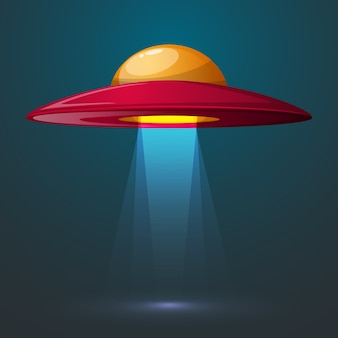 Cartoon ufo illustration