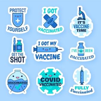 漫画の予防接種キャンペーンバッジコレクション