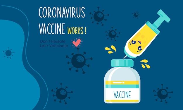 漫画の予防接種キャンペーンイラストベクトルデザイン