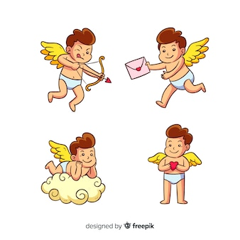 Cartoon valentine cupid collection