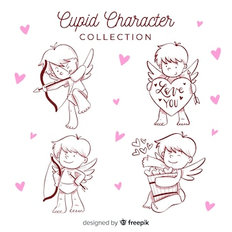 Cartoon valentine cupid pack