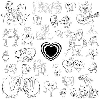 Мультфильм валентинки набор