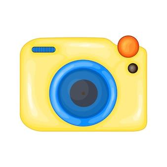 Cartoon vector illustration of the photo camera. cartoon style design element for sticker, print, poster, site, album, apparel. vector.