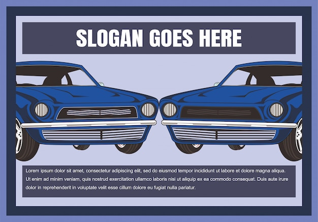 Cartoon vector illustration retro,vintage,classic car
