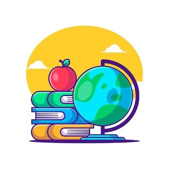 Cartoon vector illustrations back to school. back to school icon concept