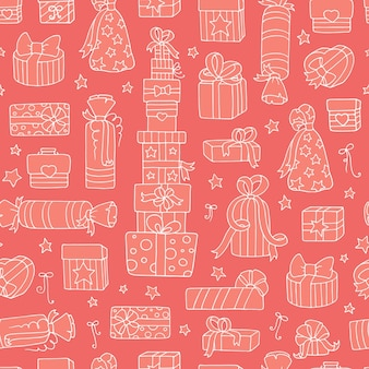 Cartoon vector pink seamless pattern for wallpaper, web page background, surface kid textures.