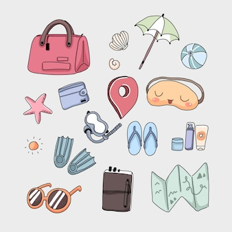 Cartoon vector travel concept illustration in flat style