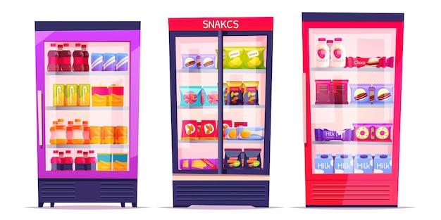 Коллекция мультяшных торговых автоматов