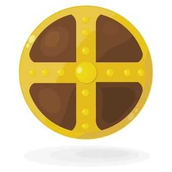 Cartoon viking shield
