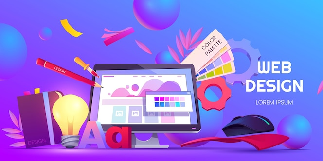 Cartoon web design background