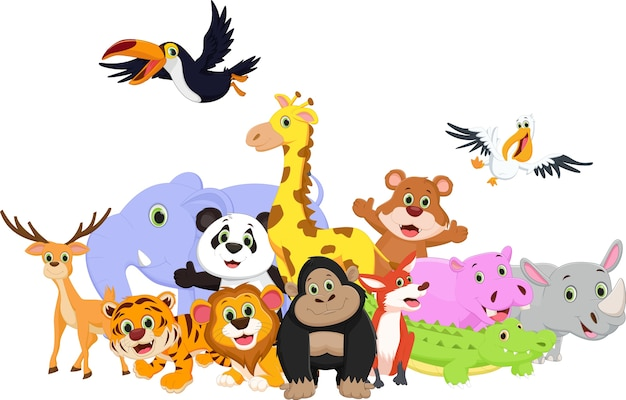야생 동물 만화