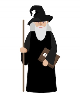 Cartoon wizard vector illustration