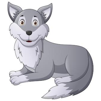 Cartoon wolf character   illustration
