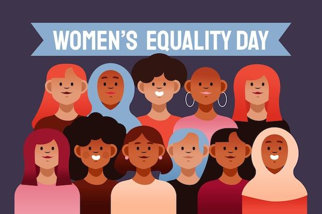 만화 여성 평등의 날 일러스트