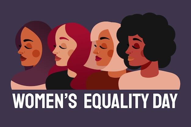 Illustrazione del giorno dell'uguaglianza delle donne dei cartoni animati
