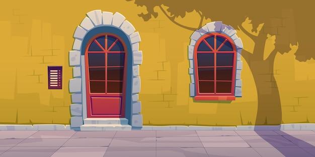 Cartoon wooden window