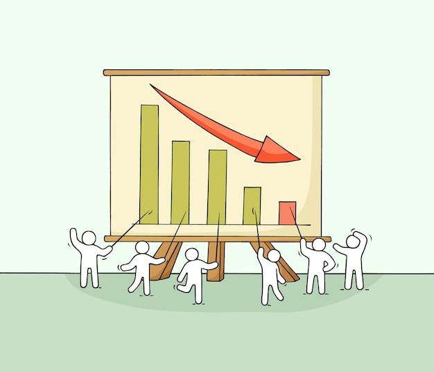 Мультфильм рабочих маленьких людей с большой доской.