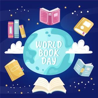漫画の世界の本の日のイラスト