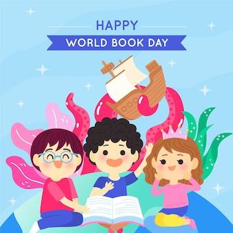 Иллюстрация всемирного дня книги