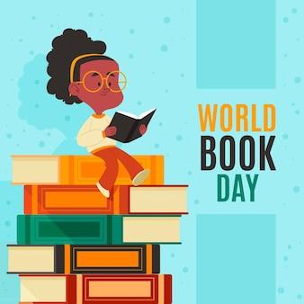 漫画の世界図書の日のイラスト