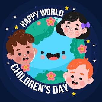 Мультяшный всемирный день защиты детей