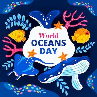 만화 세계 바다의 날 그림